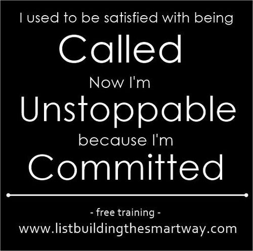 From called to committed