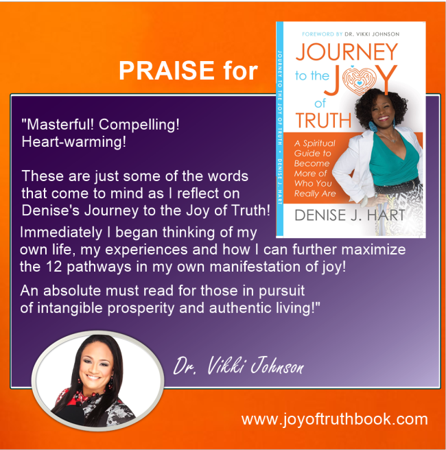 Vikki Johnson shares Praise for Journey to the Joy of Truth