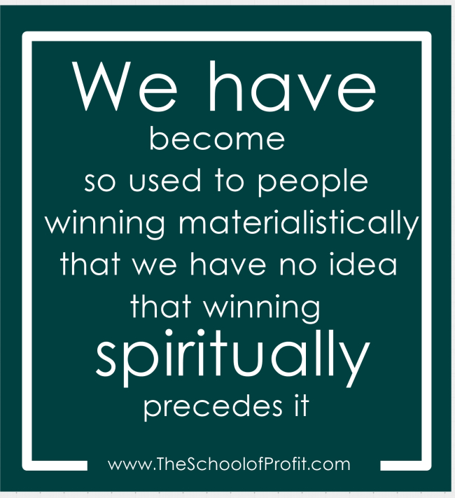 Never Forget, Winning Spiritually Comes First